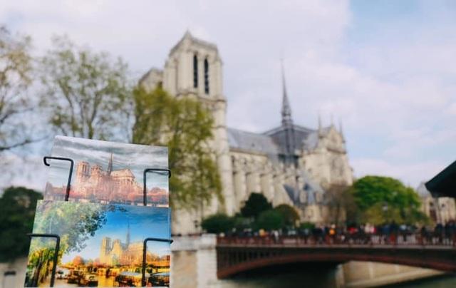 Du học sinh Việt tại Pháp: Bàng hoàng, xót xa khi Nhà thờ Đức Bà Paris bị cháy - 1