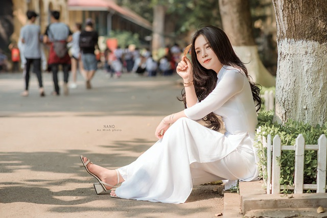 Thiếu nữ xứ Thanh diện áo dài trắng khiến cánh mày râu ngẩn ngơ - 6