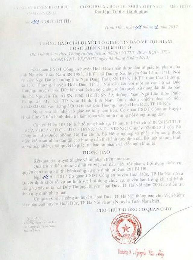 """Hà Nội: Nguyên chủ tịch huyện """"phù phép"""" sổ đỏ cho """"đất ma"""" có thoát khởi tố? - 5"""