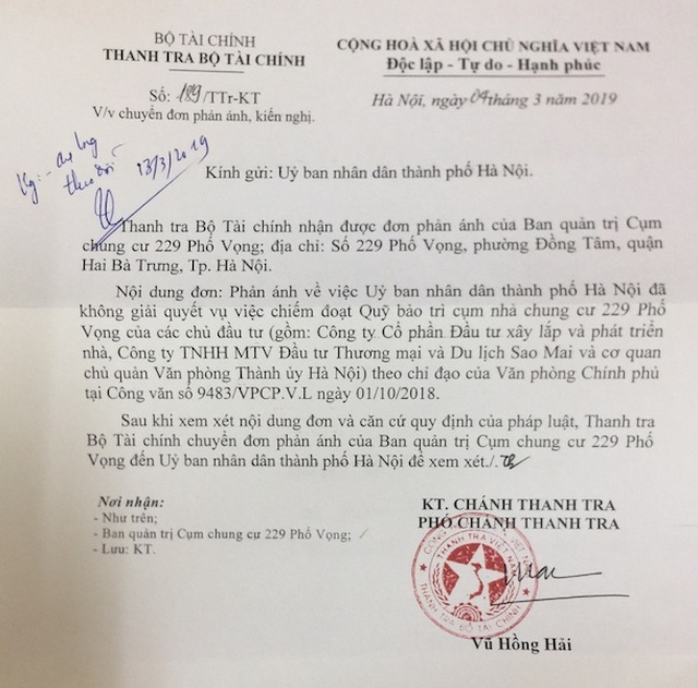 Cư dân chung cư 229 phố Vọng kêu cứu: Chính quyền vẫn liên tiếp họp, chỉ đạo! - 1