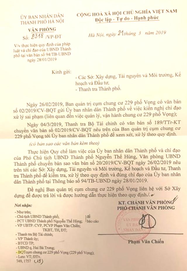 Cư dân chung cư 229 phố Vọng kêu cứu: Chính quyền vẫn liên tiếp họp, chỉ đạo! - 2
