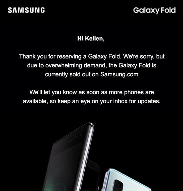 """Giá bán đắt đỏ, Galaxy Fold vẫn """"cháy hàng"""" chỉ trong 1 ngày - 2"""
