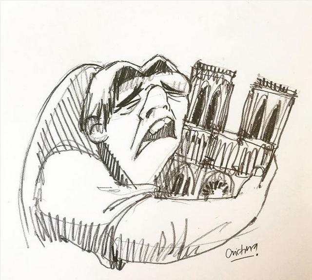Dân mạng chia sẻ những hình ảnh đầy tiếc nuối về nhà thờ Đức Bà Paris - 4