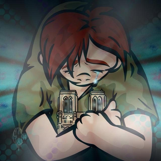 Dân mạng chia sẻ những hình ảnh đầy tiếc nuối về nhà thờ Đức Bà Paris - 5