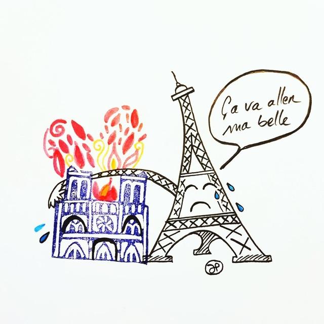 Dân mạng chia sẻ những hình ảnh đầy tiếc nuối về nhà thờ Đức Bà Paris - 6