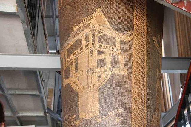 Lộc bình khổng lồ cao hai tầng nhà bằng mây tre đan của nghệ nhân Hà Nội - 9