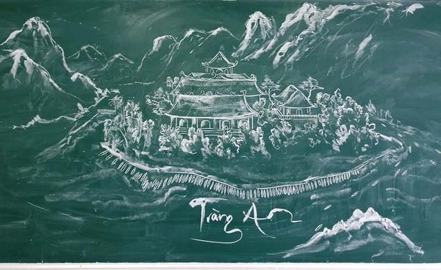 """Chia sẻ của thầy giáo 8X gây """"bão mạng"""" từ tranh vẽ bằng phấn trắng trên bảng đen - 2"""