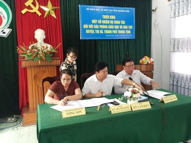 Giáo dục Quảng Nam kí cam kết chấn chỉnh bạo lực học đường