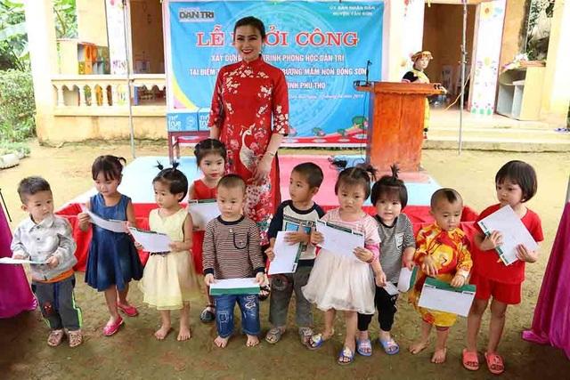 Hoa hậu Doanh nhân hoàn vũ 2019 đồng hành cùng Dân trí khởi công xây trường ở Phú Thọ - 2
