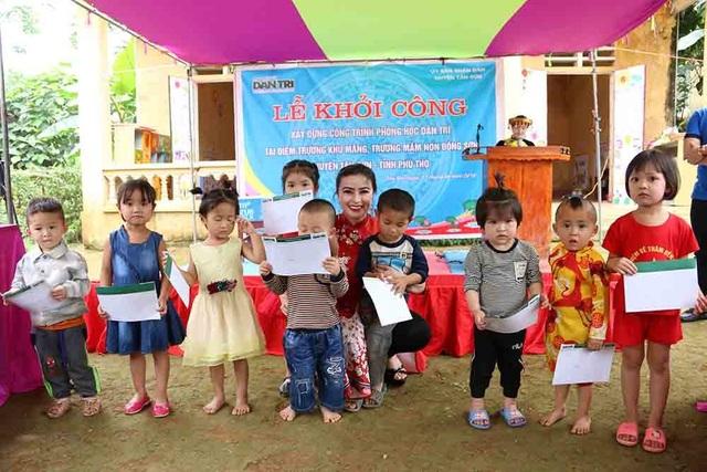 Hoa hậu Doanh nhân hoàn vũ 2019 đồng hành cùng Dân trí khởi công xây trường ở Phú Thọ - 3