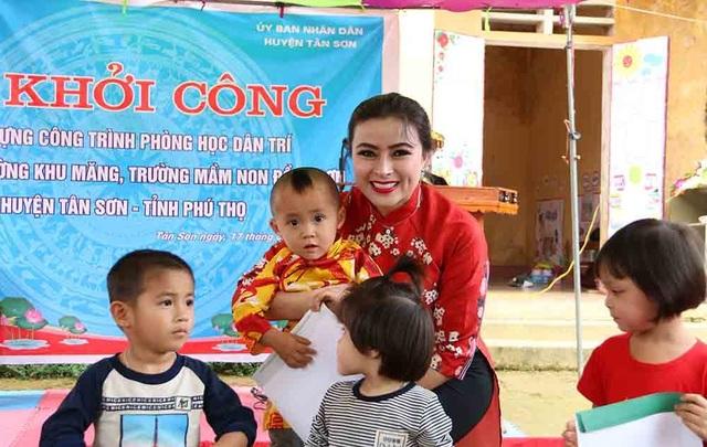 Hoa hậu Doanh nhân hoàn vũ 2019 đồng hành cùng Dân trí khởi công xây trường ở Phú Thọ - 5