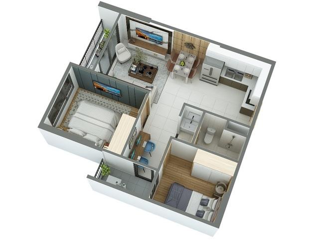Căn hộ 55m2 thiết kế cực chuẩn cho vợ chồng trẻ - 3