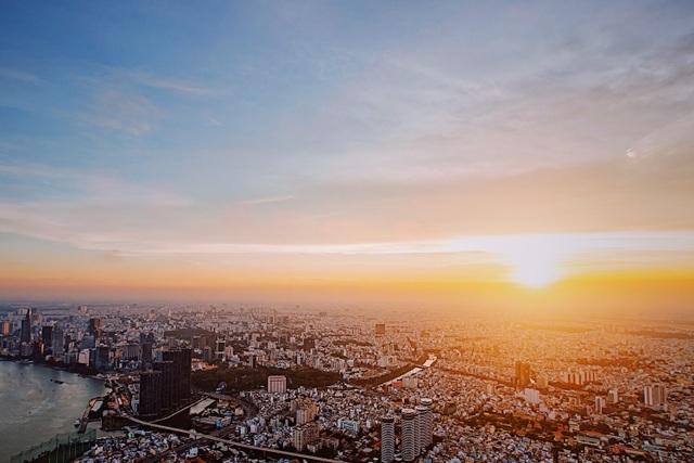 """Hé lộ hình ảnh """"độc nhất vô nhị"""" đầu tiên từ đài quan sát cao nhất Đông Nam Á giữa Sài Gòn - 2"""