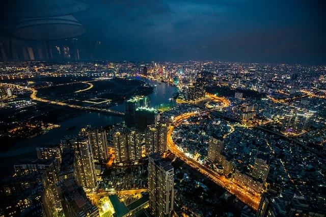 """Hé lộ hình ảnh """"độc nhất vô nhị"""" đầu tiên từ đài quan sát cao nhất Đông Nam Á giữa Sài Gòn - 4"""