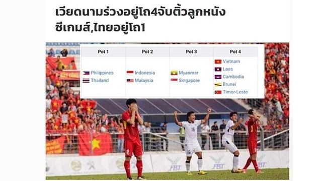 """Báo Thái Lan mỉa mai khi U22 Việt Nam """"đội sổ"""" nhóm hạt giống SEA Games"""