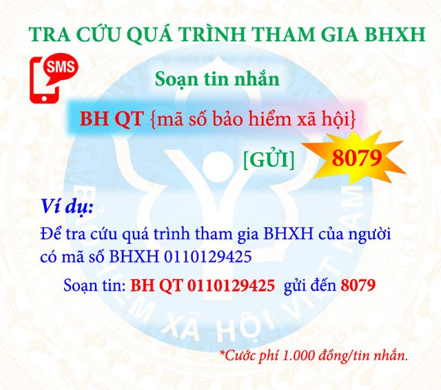 Tự tra cứu thông tin hưởng BHXH, BHYT bằng tin nhắn di động - 1
