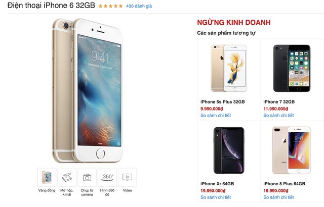 Sau 5 năm, iPhone 6 chính thức khai tử tại Việt Nam - 1