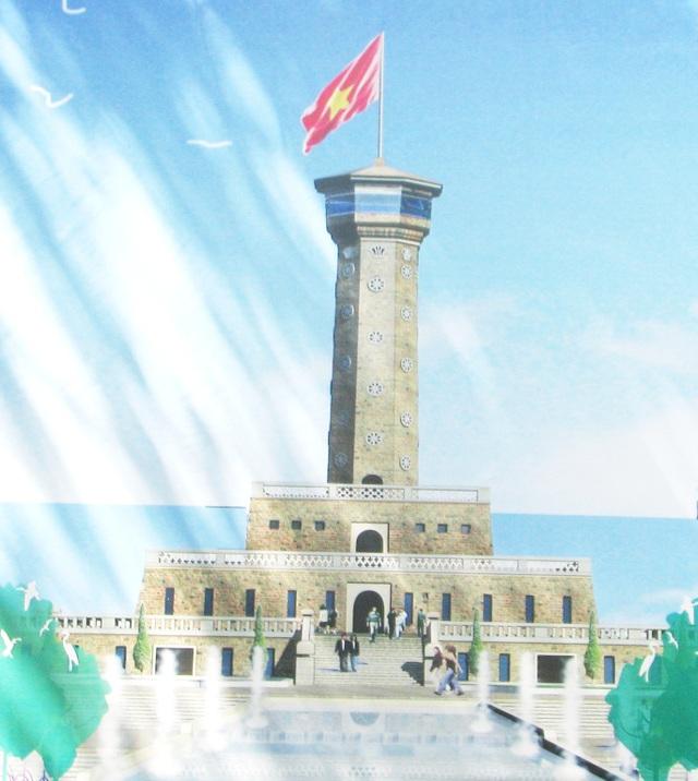 Cột cờ Hà Nội ở Mũi Cà Mau đang dần hoàn thiện - 1