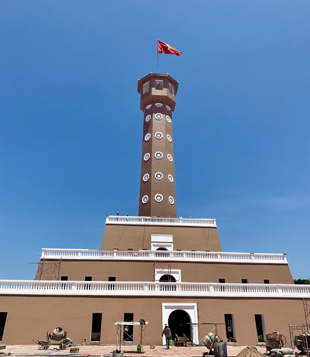 Cột cờ Hà Nội ở Mũi Cà Mau đang dần hoàn thiện - 2