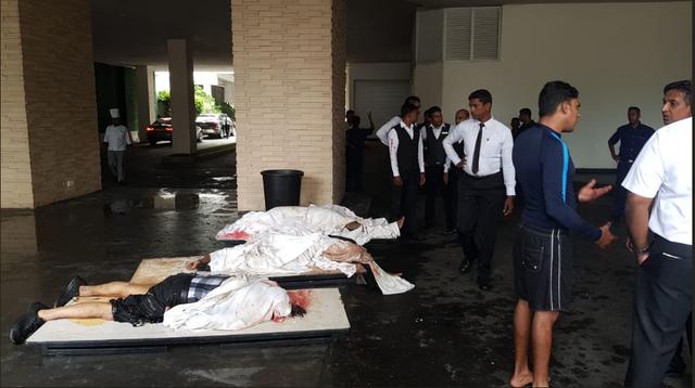 Hiện trường thảm kịch đánh bom khiến 160 người chết tại Sri Lanka - 5