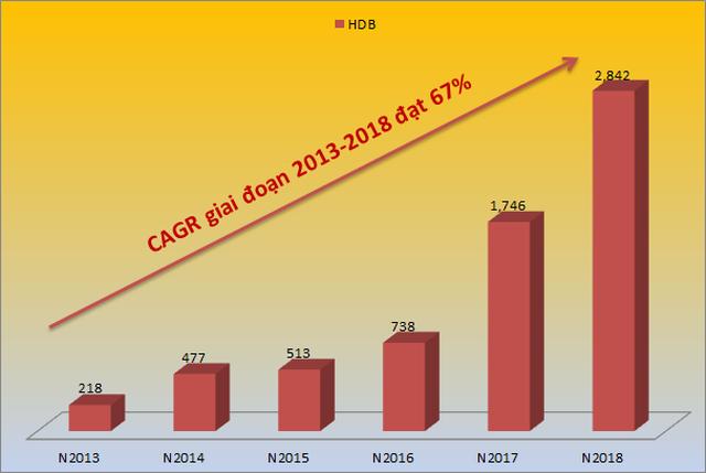 HDBank lọt Top 5 Ngân hàng có tốc độ tăng trưởng nhanh nhất năm 2019 - 1