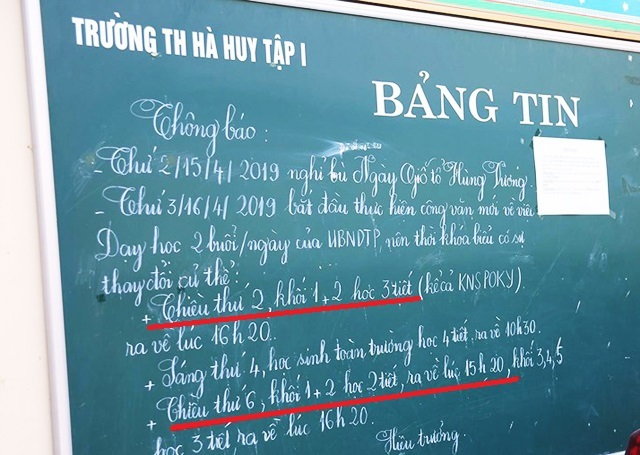 Nghệ An: Trường thay đổi lịch học, phụ huynh nháo nhào chuyện đón con - 1