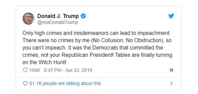 Tổng thống Trump: Quốc hội không thể luận tội tôi - 2