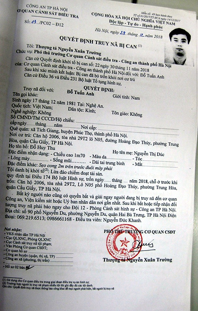Hà Nội: Truy nã nguyên giảng viên lừa đảo, chiếm đoạt 50 tỷ đồng - 1