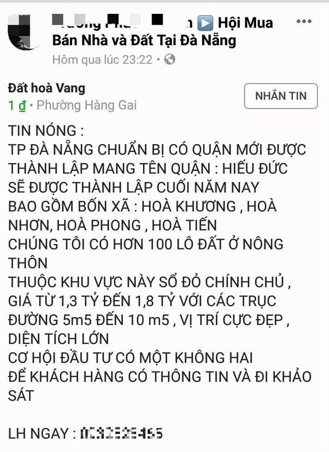 Tung tin đồn đại náo giá đất Đà Nẵng: Công an vào cuộc - 2