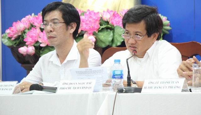 TPHCM: Ông Đoàn Ngọc Hải thuyết phục cư dân rời chung cư sắp sập - 1