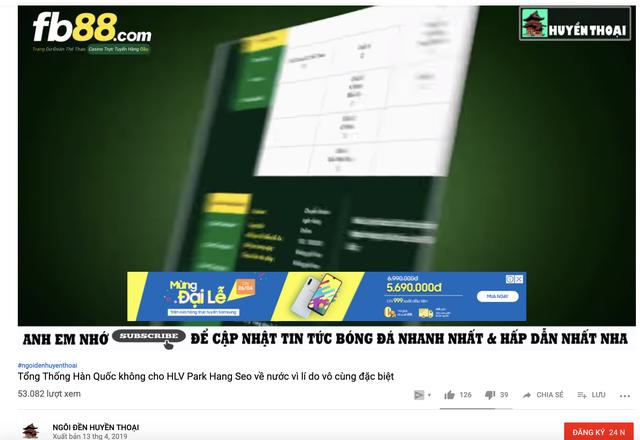 Cá cược bóng đá đang trà trộn vào các kênh Youtube bẩn - 2