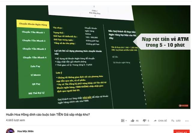 Cá cược bóng đá đang trà trộn và o các kênh Youtube bẩn - 1