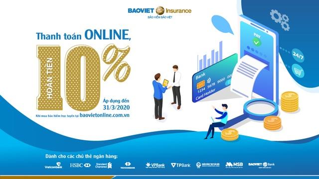 """""""Thanh toán Online, nhận ngay ưu đãi"""" – Bảo hiểm Bảo Việt triển khai quyền lợi ưu đãi dành riêng cho chủ thẻ ngân hàng - 1"""