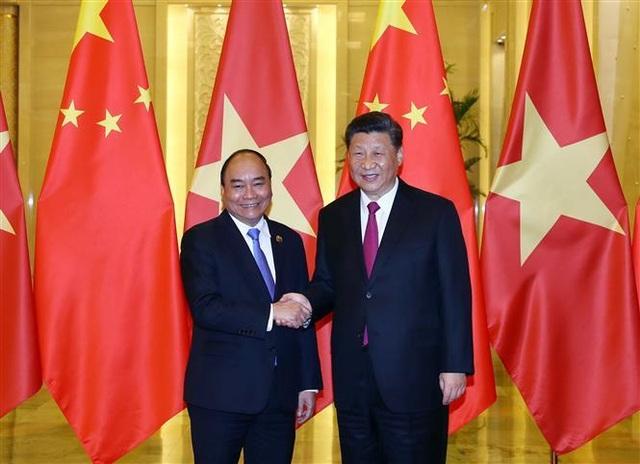 Thủ tướng Nguyễn Xuân Phúc hội kiến Tổng Bí thư, Chủ tịch Trung Quốc Tập Cận Bình - 1