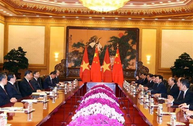 Thủ tướng Nguyễn Xuân Phúc hội kiến Tổng Bí thư, Chủ tịch Trung Quốc Tập Cận Bình - 2