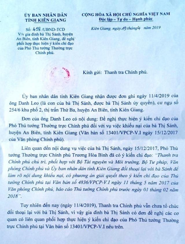 Kiên Giang: Vì sao chỉ đạo của Phó Thủ tướng Thường trực Chính phủ chưa được thực hiện? - 3