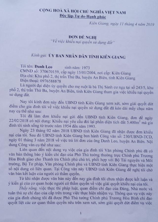 Kiên Giang: Vì sao chỉ đạo của Phó Thủ tướng Thường trực Chính phủ chưa được thực hiện? - 1