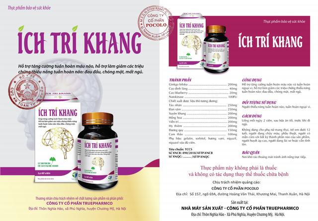 Ích Trí Khang – Thảo dược lành tính, hỗ trợ làm giảm các triệu chứng của thiểu năng tuần hoàn não - 2