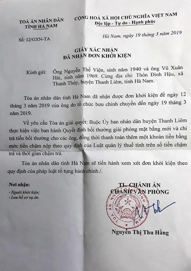 Hà Nam: Người dân tiếp tục khởi kiện UBND huyện Thanh Liêm ra toà! - 4