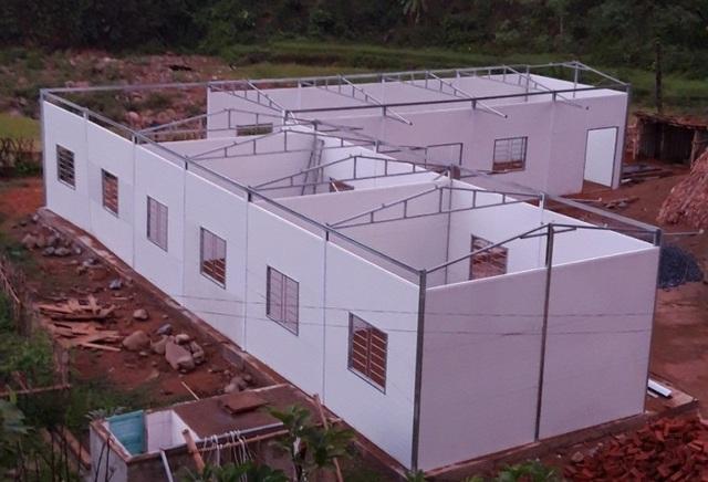 Người dân đóng góp công sức xây trường cho học sinh vùng cao - 8