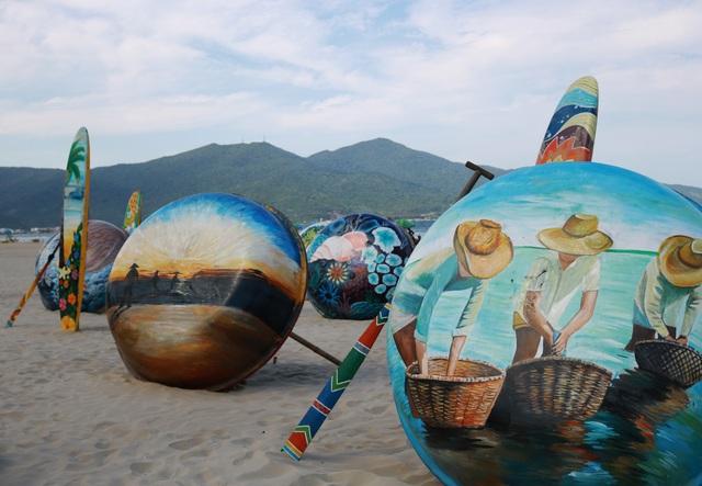 Check in biển Đà Nẵng với không gian Thuyền thúng sắp đặt nghệ thuật - 3