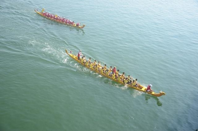 Rộn ràng Lễ hội Đua thuyền truyền thống trên sông Nhật Lệ - 3