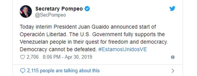 Lãnh đạo đối lập Venezuela tuyên bố đảo chính - 2