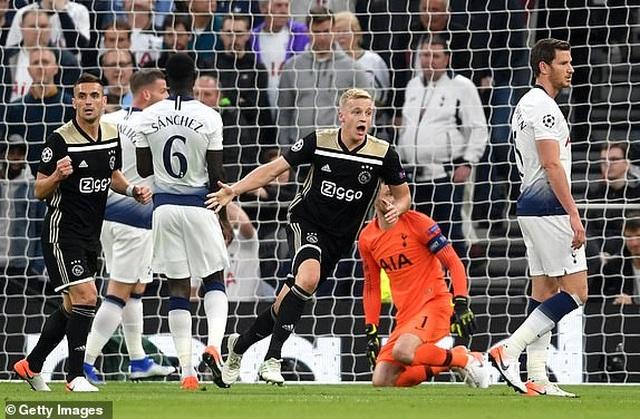 Tottenham 0-1 Ajax: Pha làm bàn của Van de Beek - 12