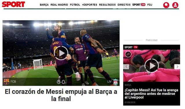 """Báo chí thế giới ngả mũ trước """"thiên tài"""" Lionel Messi - 2"""