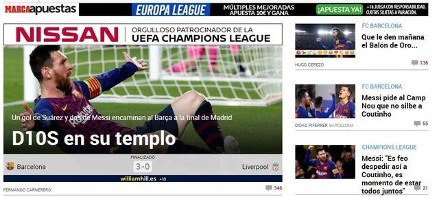 """Báo chí thế giới ngả mũ trước """"thiên tài"""" Lionel Messi - 1"""