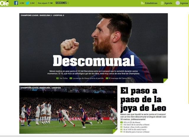 """Báo chí thế giới ngả mũ trước """"thiên tài"""" Lionel Messi - 4"""