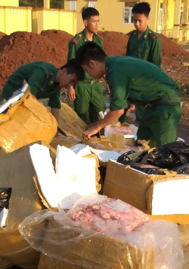 Tiêu hủy hơn 1 tấn thịt gia cầm nhập lậu ở khu vực biên giới - 2