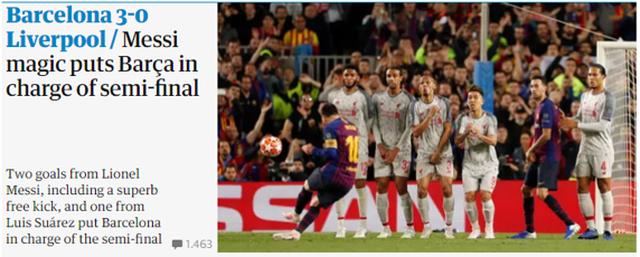 """Báo chí thế giới ngả mũ trước """"thiên tài"""" Lionel Messi - 11"""