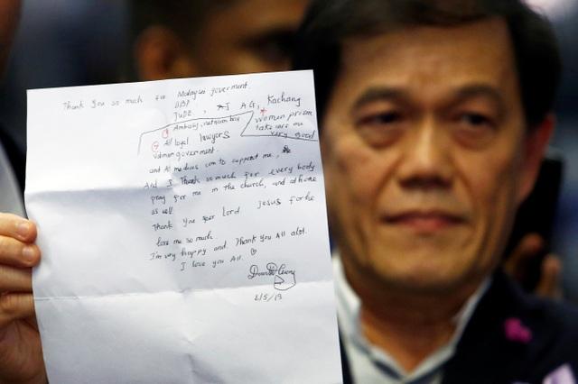 Đoàn Thị Hương viết thư cảm ơn trước khi được trả tự do - 1